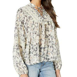 BISHOP + YOUNG Chrissy Floral Print Boho Blouse